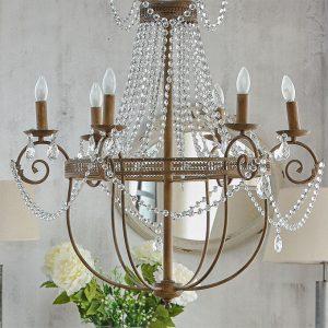 Lámpara de diseño en forja de hierro
