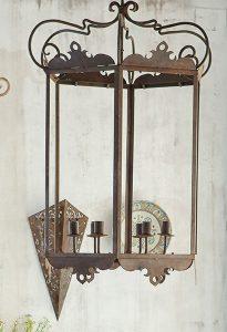 Aplique y Lámpara de diseño en forja de hierro