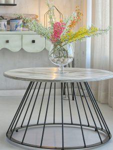 Mesa diseño en forja de hierro